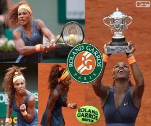 Układanka Serena Williams mistrz Roland Garros 2013