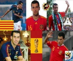 Układanka Sergio Busquets (El ośmiornicy Badia) Hiszpański pomocnik reprezentacji narodowej