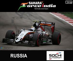 Układanka Sergio Pérez, Grand Prix Rosji 2015