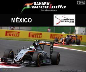 Układanka Sergio Perez, 2016 Grand Prix Meksyku