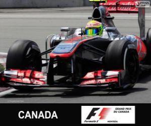 Układanka Sergio Perez - McLaren - Circuit Gilles Villeneuve, Montreal, 2013