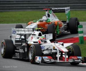 Układanka Sergio Perez - Sauber - Sepang 2011