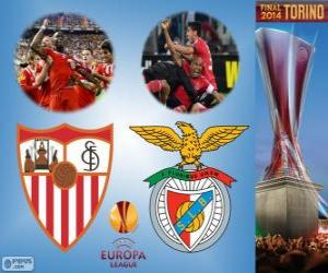 Układanka Sevilla vs Benfica. Europa League 2013-2014 finał w Juventus Stadium, Turyn, Włochy