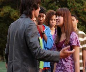 Układanka Shane (Joe Jonas) zły Mitchie Torres (Demi Lovato)