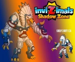 Układanka Shapeshifter. Invizimals Następny wymiar. Ogromne totem z ogromną mocą jest bogiem lasów rdzennych Amerykanów