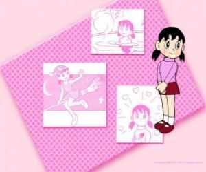 Układanka Shizuka Minamoto jest jedyną dziewczyną w grupie