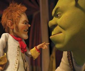 Układanka Shrek to nabrać, podpisując pakt z uprzejmy negocjator Rumpelstiltskin