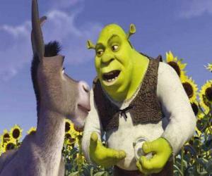 Układanka Shrek, Wilkołak, ze swoim przyjacielem Donkey