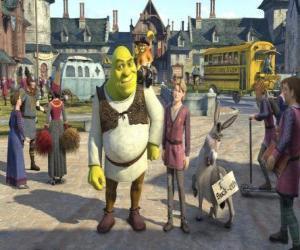 Układanka Shrek z Arturem możliwości następcy tronu