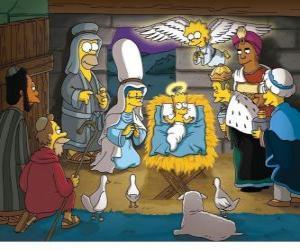 Układanka Simpsonowie w żłobie