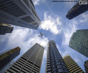 Układanka Singapurskie drapacze chmur