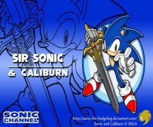 Układanka Sir Sonic, Sonic mieczem rycerza