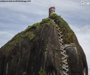 Układanka Skała Guatape lub Kamień El Peñol