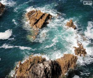 Układanka Skały w morzu