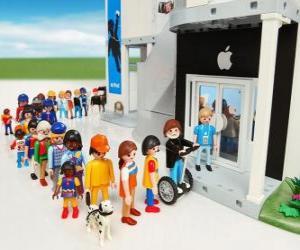 Układanka Sklep Apple Playmobil