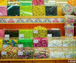 Układanka Sklep ze słodyczami