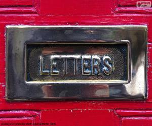 Układanka Skrzynka pocztowa na czerwonych drzwiach