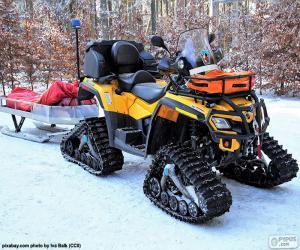 Układanka Skuter śnieżny Rescue