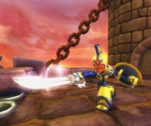 Układanka Skylander Chop Chop, trudne wojownika z mieczem i tarczą. Nieumarli Skylanders