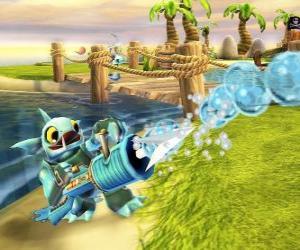 Układanka Skylander Gill Grunt, stworzenie, które nigdy nie pozwala uciec jego zdobycz. Woda Skylanders