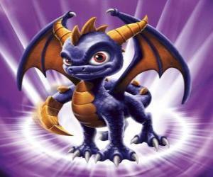 Układanka Skylander Spyro, smok jest potężny przeciwnik, który potrafi latać i strzelać ogniem z ust. Magia Skylanders