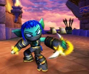 Układanka Skylander Stealth Elf, wojownik ninja. Życie Skylanders