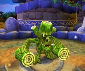 Układanka Skylander Stump Smash, istota młotka bali drewnianych zamiast broni. Skylanders Vida