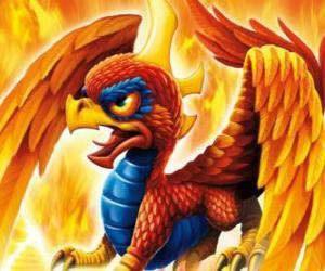 Układanka Skylander Sunburn, skrzydlaty smok. Ogień Skylanders