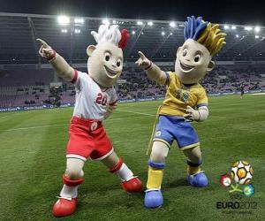 Układanka Slavek i Slavko - UEFA Euro 2012 -