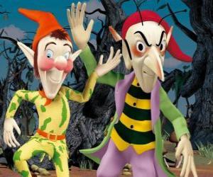 Układanka Sly i Gobbo, złośliwe gobliny w przygodach Noddy jest