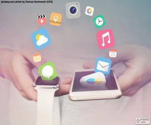 Układanka SmartWatch i smartphone