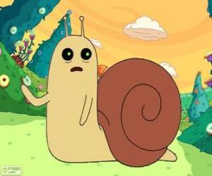 Układanka Snail, małych Ślimak z Pora na przygodę
