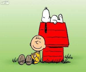 Układanka Snoopy i Charlie Brown