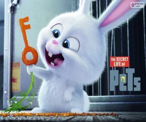 Układanka Snowball, biały królik