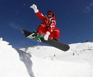 Układanka Snowboarder robi trick