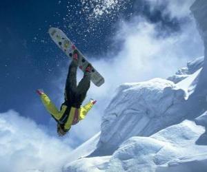 Układanka Snowboardowe w skoku