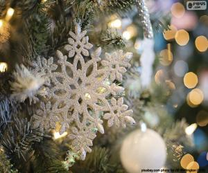 Układanka Snowflake ornament