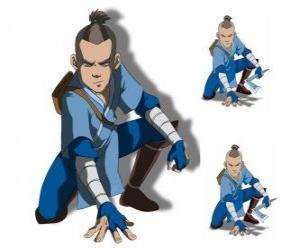 Układanka Sokka to 15 lat, wojownik z Południowego wodne Tribe, który przyjeżdża z Aang