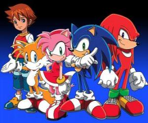 Układanka Sonic i innych postaci z gier Sonic