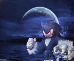 Układanka Sonic Werehog, najnowsze przemiany Sonic, w nocy przemienia się w wilka hedgehog