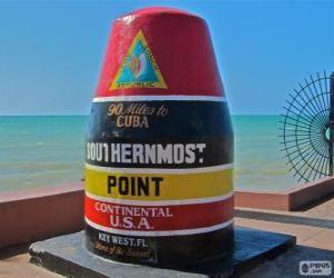 Układanka Southernmost Point, (południe), Key West, Floryda, USA