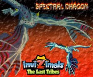 Układanka Spectral Dragon. Invizimals Zaginione Plemiona. Zły invizimal, który zapewnia łatwe potyczek, jeśli jesteś odważny ma by your side
