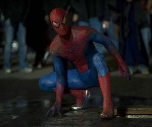 Układanka Spider-man on the streets of New York