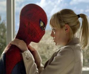 Układanka Spider-Man wraz z Gwen Stacy