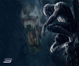Układanka Spiderman akcji Venom z wielu swoich kompetencji i umiejętności
