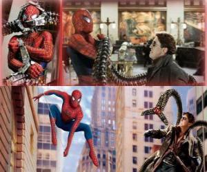 Układanka Spiderman walki villain Doctor Octopus, jeden z jego największych wrogów