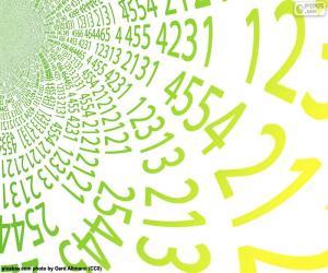 Układanka Spirala liczb