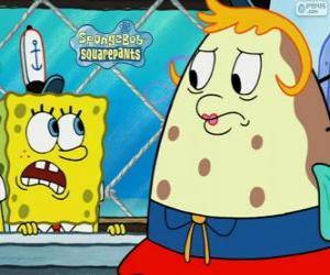 Układanka SpongeBob i Pani Puff