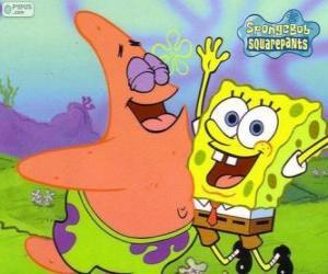 Układanka SpongeBob i Patrick bardzo szczęśliwy