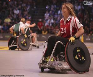 Układanka Sportowiec z niepełnosprawnościami